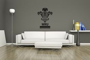 Huge Wales Rugby Team Logo Vinyl Sticker Wall Art / Man Cave