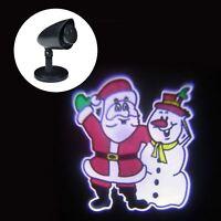 Outdoor LED Waving Santa & Snowman Christmas Projector Light Set Xmas Decoration