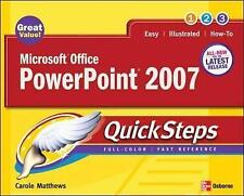 Microsoft Office PowerPoint 2007 QuickSteps, Carole Boggs Matthews | Paperback B