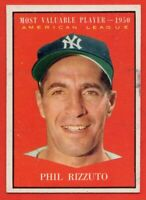 1961 Topps #471 Phil Rizzuto EX-EXMINT MARKED HOF New York Yankees FREE SHIPPING