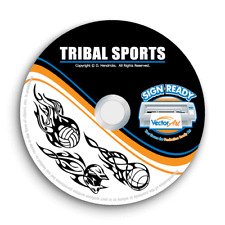 TRIBAL FLAMES SPORTS CLIPART -VECTOR CLIP ART -VINYL CUTTER PLOTTER GRAPHICS CD