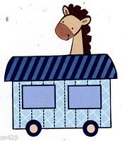 "3.5"" Lambs ivy choo choo express giraffe on train nursery prepasted wall border"
