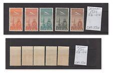 Denmark Air Mail Set, C6-10, Mint Hinged  (680