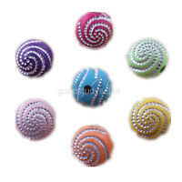 100 pcs mixed Whirlpool effect Acrylic Beads DIY Necklace Bracelets charms 10mm