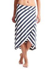 NWT Athleta Ribbon Stripes Skirt Navy Heather/White MEDIUM (M) Soft Stretchy $59