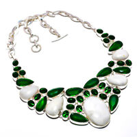 White Opal Gemstone 925 Sterling Silver Handmade Necklace Jewelry 18 8154