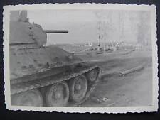Foto Beute Panzer T-34 in Russland bei Leningrad