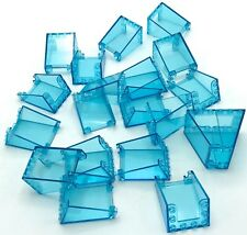 Lego 20 New Trans-Light Blue Windscreens 3 x 4 x 4 Inverted Transparent Parts