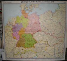 Schulwandkarte map Deutschland Germany 700T ´73 super Erhaltung 200x189cm Karte