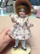 "Antique doll all bisque sleep eyes 6"" 2 1/2"