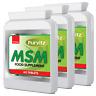 MSM (methylsulfonylmethane) 1000mg 180 Tablets Hair Skin Nails Joints x3 Bottles