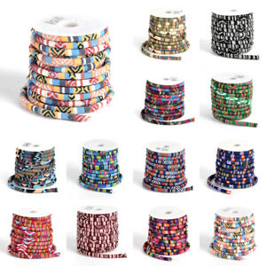 10yds/Roll Ethnic Polyester Cords Boho String Threads Full Spool Round Craft 7mm
