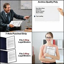 Dunwell Legal Size Sheet Protector Standardheavy 85x14 Legal Page