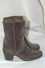Women's Camper Brown Suede Heel Boots Size 38