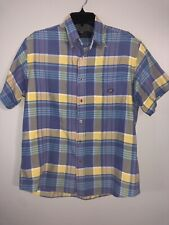 Oscar de la Renta Medium Multi Color Short Sleeve Button Shirt EUC