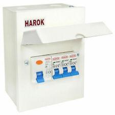 Harok Electric Company  63A RCD, 6A, 16A, 32A MCB Amendment 3 Metal Garage Consumer Unit