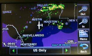 GPS Garmin Aera 560 Aviation with gxm 40 antenna, yoke mount and power cord .