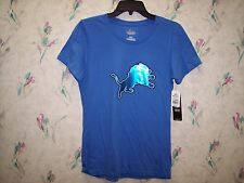 DETROIT LIONS WOMENS OFFICIAL NFL TEAM APPAREL SHIRT SIZE MEDIUM BY MAJESTIC NEW
