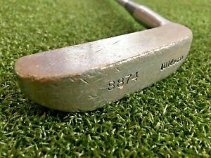 "Wilson 8874 Blade Putter  /  RH  /  ~35"" Steel  /  Nice Leather Grip  / mm4510"