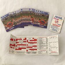 1991 New York Yankees Baseball Pocket Schedule LOT OF 35 Carvel Ice Cream Ad MLB