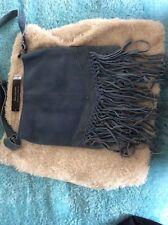 Dorothy perkins Denim Blue Leather Fringed Across Body Bag BNWT