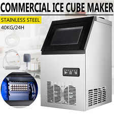 Commercial Ice Maker Ice Machine 90lbs Ice Cube Making Machine Stainless Steel