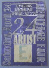 Artist's Official cloth Tag from 2003 New Orlean Heritage Fair April 24 Original