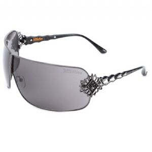 New Affliction Sunglasses Boomer Black Pewter, with Case, Tag, and Box