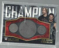 2017 WWE Topps Dean Ambrose/Seth Rollins Commemoratice Medallions SP/25!!