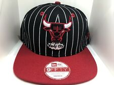 ee8b5ed28d0f69 NBA Chicago Bulls New Era Vintage Pinstripe NBA Basketball Snapback Hat Cap