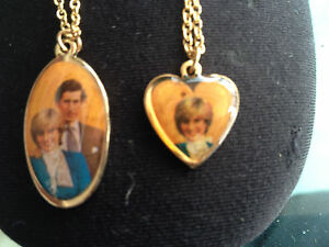 A REAL BARGAIN AND COLLECTORS ITEM - A PAIR OF PRINCESS DIANA NECKLACES.   NICE