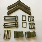 WW2 Selection Military Brass Belt Buckles and Shoulder Stripes