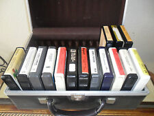 Lot of 15 8 track tapes  with case James Taylor, Carly Simon, Ronstadt