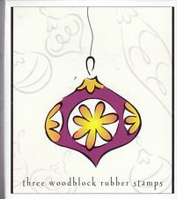 ornaments 3 stamps  hero arts Wood Mounted Rubber Stamp  3 1/2 x 3