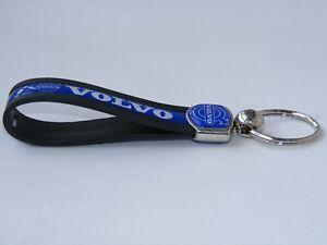 VOLVO Key Fob Key Ring Key Chain Metal Rubber Holder Emblem Logo Car Truck 12cm