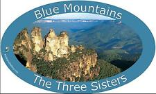 Panoramic Bumper Sticker of Blue Mountains, The Three Sisters, Australia