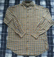 Mens Orvis Shirt Large Long Sleeve Button Down 85% Silk