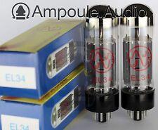 JJ EL34 valves (tubes) Matched Pair - Australian stock, fast delivery