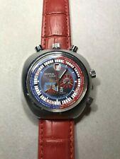 Sorna Bullhead GMT World Timer Cronografo vintage