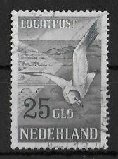 NETHERLANDS 1951 Used Seagulls 25 Gld NVPH #LP13 CV €125 VF