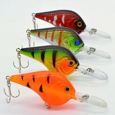 4pcs/Lot Plastic Fishing Lures Bass CrankBait Crank Bait Tackle Hook 11.2g/9.5cm