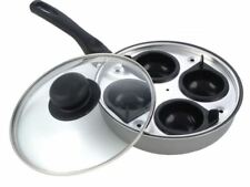 Pendeford Sapphire Poached Egg Poacher 4 Cup 20cm  Pan Non Stick glass lid