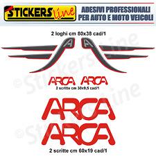 Kit completo 6 adesivi per camper ARCA loghi arca stickers caravan roulotte