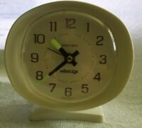 Vtg Atomic Westclox Baby Ben Alarm Clock Wind-Up Working Glow in the Dark Hands.
