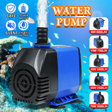 600L/H - 3000L/H Submersible Water Pump Fish Tank Pond Aquarium Fountain