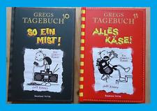 2 x Gregs Tagebuch, Jeff Kinney Bd 10+11: So ein Mist!+Alles Käse! Gebunden. NEU