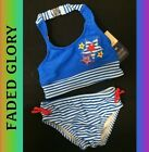GIRLS SIZE 18 MONTHS SWIMSUIT 2 PIECE PATRIOTIC CLOTHING - NEW