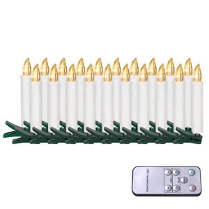 LED Weihnachtskerzen Weihnachtsbaumkerzen Warmweiß Weihnachtsdeko 20X kabellose
