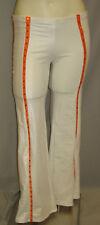 1-only KNICKS WHITE SAMPLE PANT UNIFORM DANCETEAM COSTUME/UNIFORM: Size M