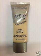 Maybelline EverFresh Makeup Foundation ( IVORY ) SPF 14 NEW.
